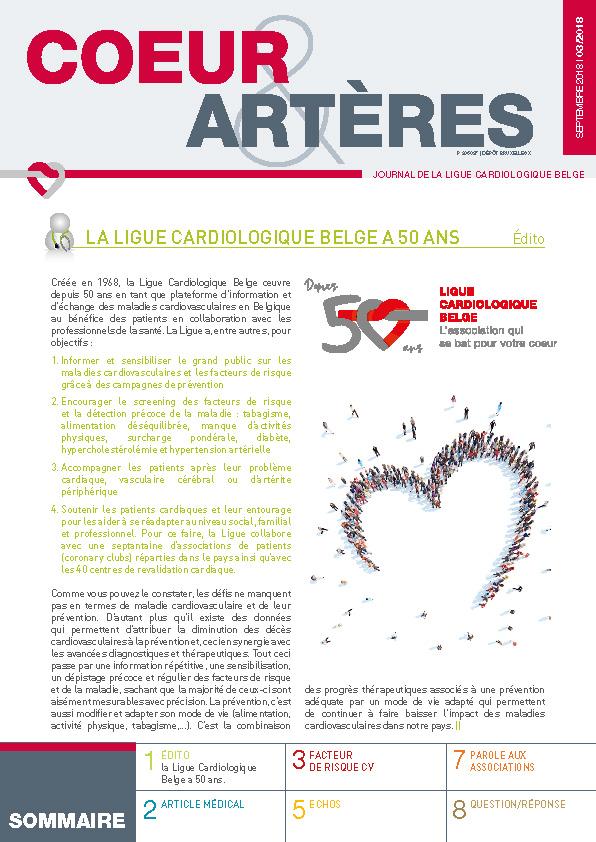 LA LIGUE CARDIOLOGIQUE BELGE A 50 ANS