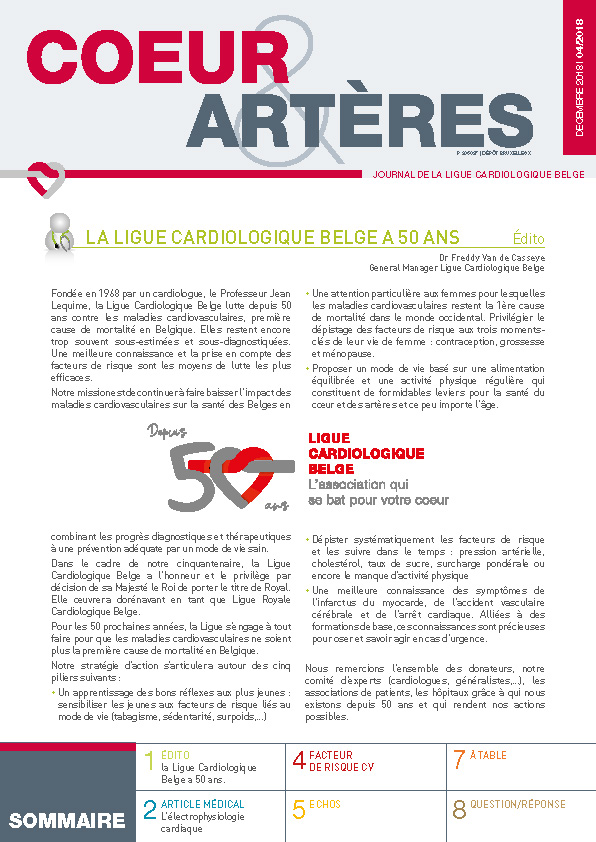 Journal de la ligue cardiologique belge