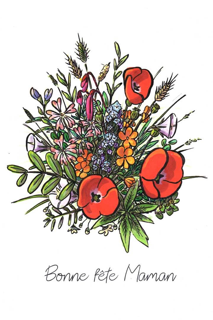 Cœur de femme - Bouquet de fleurs