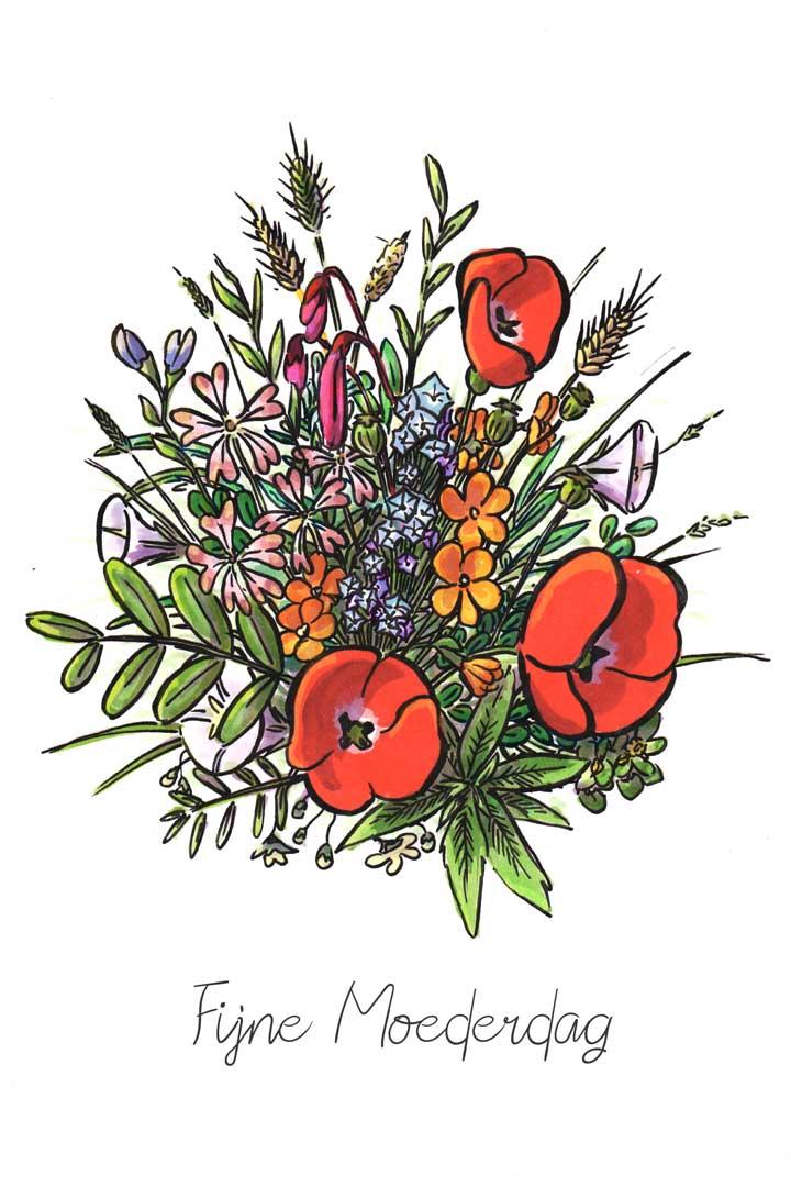 Boeket Bloemen voor Moederdag